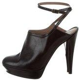 Lanvin Leather Platform Ankle Boots
