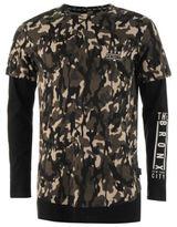 Fabric Mens Long Sleeve Top T Shirt Round Neck Lightweight Cotton Print