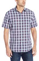 Arrow Men's Short Sleeve Textured Gingham Shirt