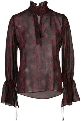 Nili Lotan Demi snake-effect printed blouse