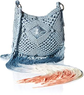Ale By Alessandra 'Ale By Alessandra Women's Arcata Macrame Bag with Dip Dye Fringe