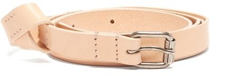 Ann Demeulemeester Skinny Knot Leather Belt - Womens - Beige