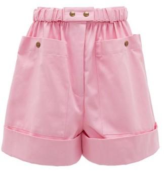 Symonds Pearmain - High-rise Cotton Shorts - Pink