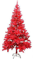Asstd National Brand ALEKO Tall Artificial Christmas Holiday Pink Plastic PVC Tree, One Size , Pink