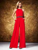 New York & Co. Halter Jumpsuit - Red