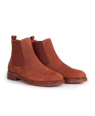 H By Hudson Rowan Wax Leather Chelsea Boots Colour: BROWN, Size: UK 7