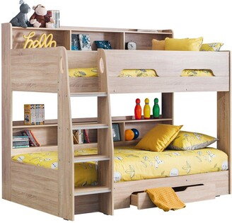 Julian Bowen Riley Bunk Bed with Shelves and Storage - White