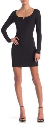 Material Girl Long Sleeve Bodycon Dress