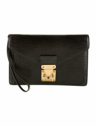 Louis Vuitton Vintage Epi Pochette Sellier Dragonne Black