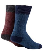 Mantaray Pack Of Two Multi-coloured Cotton Blend Boot Socks