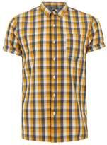 Topman Bright Yellow Gingham Shirt