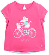 Joules Pixie Mice-Cycle Tee, Size 3-6