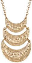 Stephan & Co Textured Triple Row Pendant Necklace
