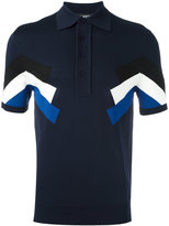 Neil Barrett panelled polo shirt - men - Nylon/Viscose - S