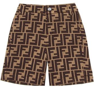 Fendi Kids Baby cotton-blend Bermuda shorts