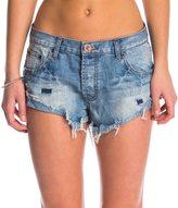One Teaspoon Blue Jack Bandits Denim Shorts 8145556