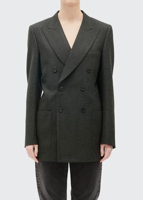 Maison Margiela Double-Breasted Wool Suit Jacket