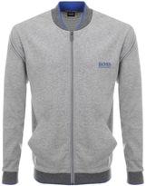 HUGO BOSS Full Zip College Sweatshirt Grey