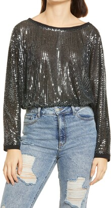 Lulus Sequins of Events Sparkle Top