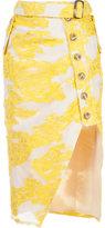 Self-Portrait Filcoupé asymmetric skirt - women - Polyester/Nylon/cotton - 10