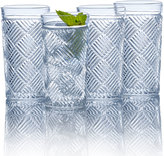 Mikasa Ballard Braid Set of 4 Highball Glasses