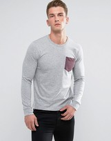 French Connection Long Sleeve T-Shirt with Pocket