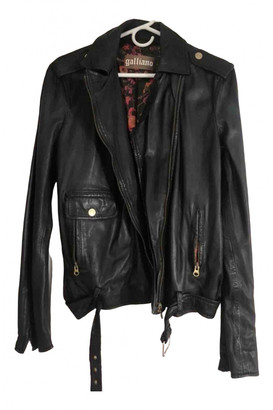 Galliano Black Leather Jacket for Women