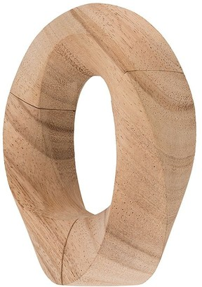 Monies Jewellery Oversized Sculpted Bangle