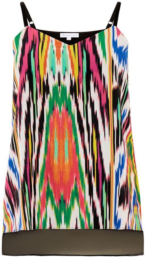 Warehouse Rainbow Ikat Print Cami
