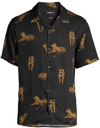 The Kooples Wako Short-Sleeve Animal Print Shirt