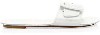 Definery Loop Lizard-Embossed Leather Flat Sandals