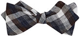 Thomas Mason Men's Plaid Duke Bow Tie-NAVY