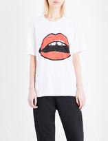 Markus Lupfer Lara Lip Alex cotton-jersey T-shirt