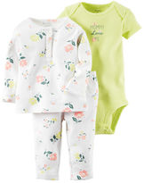 Carter's 3-Piece Babysoft Bodysuit & Pant Set