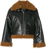 Golden Goose Deluxe Brand shearling trim biker jacket