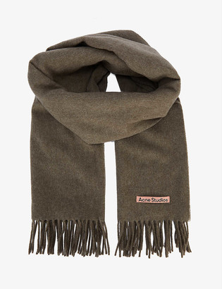 Acne Studios Canada speckled wool scarf