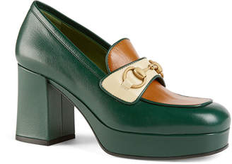 Gucci Houdan 85mm Leather Loafer Pumps