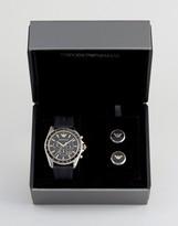 Emporio Armani AR80003 Chronograph Watch & Cufflinks Gift Set