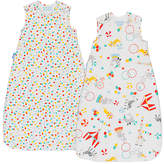 Grobag Roll Up Wash and Wear Sleep Bag, 1 Tog, Pack of 2, Multi