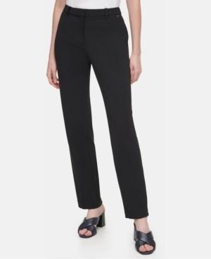 Calvin Klein Ponte-Knit Slim-Leg Ankle Pants