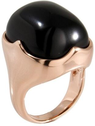 Forever Last 18 kt Gold Plated Women's Rectangular Stone Cushion Ring
