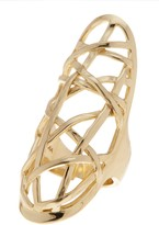 Cole Haan Geometric Crystal Ring - Size 7