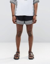 Jaded London Retro Shorts With Global Print
