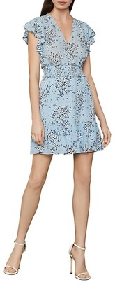 BCBGMAXAZRIA Floral-Print Ruffled Mini Dress