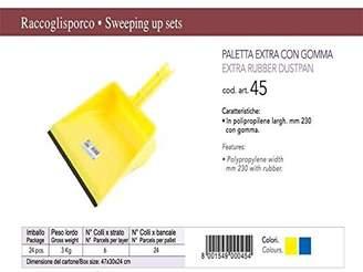 Rosaenzo Minerva Extra Rubber Dustpan, Yellow