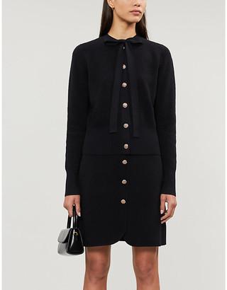 Claudie Pierlot Manue woven button-front skirt