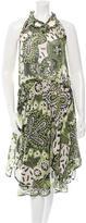 Etro Paisley Print Silk Dress