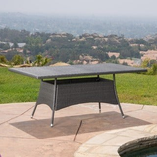 Christopher Knight Home Corsica Outdoor Wicker Rectangle Dining Table