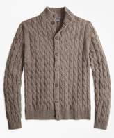Brooks Brothers Merino Wool Cable Cardigan