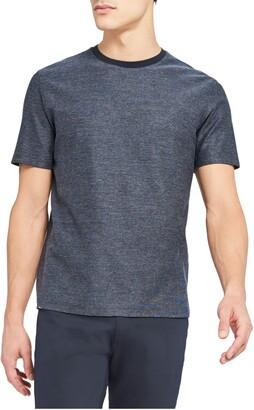 Theory Milan Micro Grid Crewneck T-Shirt